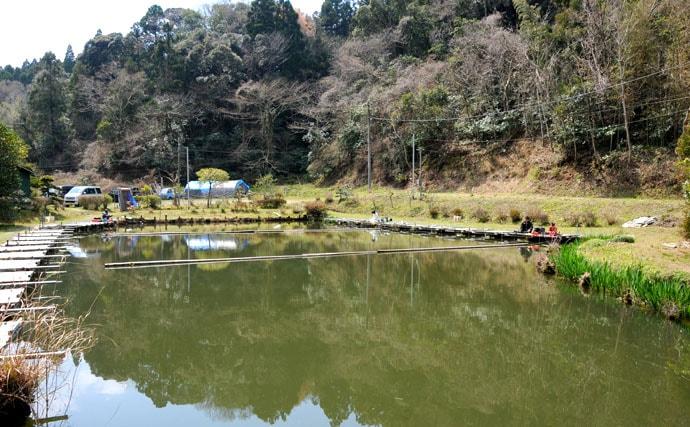 宮崎まこの一期一景♪千葉県大上へら池で両ダンゴの宙釣りに挑戦