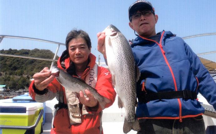 兵庫県家島諸島の海上釣り堀でルアーのサーモンフィッシング!?