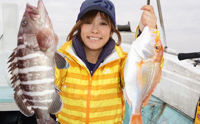 軽量な電動タックルで高級魚三昧な玄界灘の沖五目釣りに挑む
