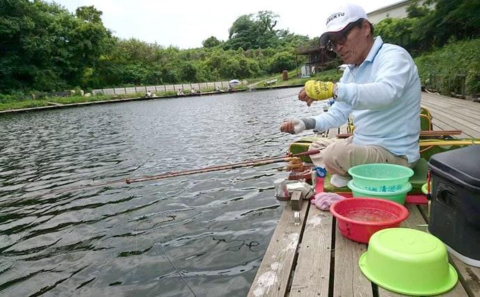 初めてのヘラブナ釣り体験で両ダンゴに挑戦!【千葉県富里市・富里乃堰】
