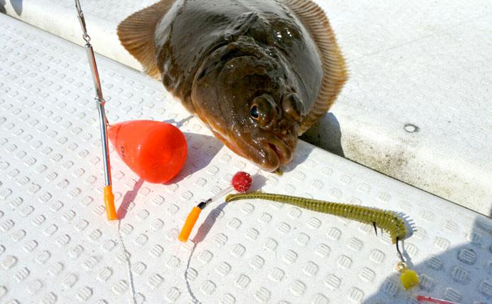 カレイの魚影豊富な仙台湾でお手軽バイオワームフィッシング!