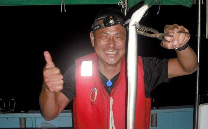 何これでっかい……!愛知県弥富出船、船から狙うゴン太ウナギの五目釣り