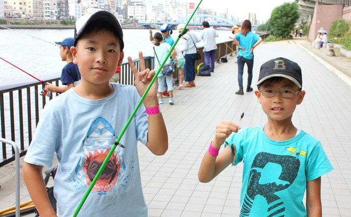 夏休みイベント体験。釣りして生き物を探して、隅田川水族館をつくろう!
