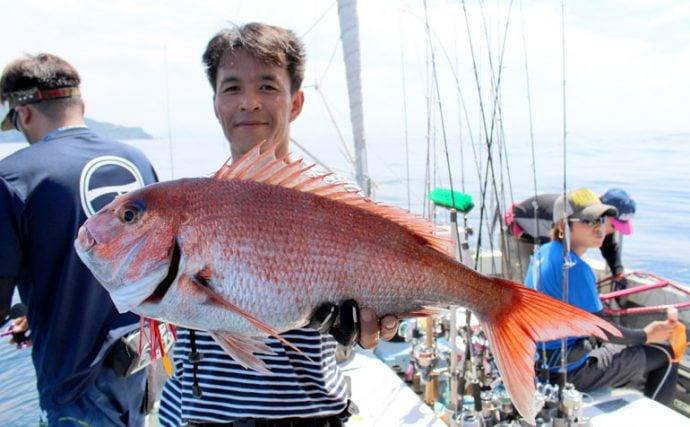 敦賀沖で大物が回遊!タイラバとジグで五目釣り【福井県敦賀港ブルーズ】