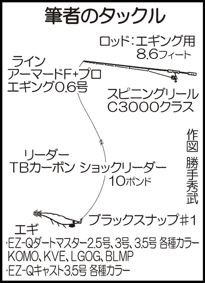 台風の影響にも負けず、秋アオリが反応【長崎県高島飛鳥磯釣り公園】