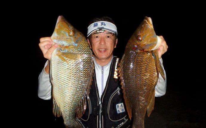 魚の楽園!夜の上甑島で磯の大物、タバメを狙う【鹿児島県上甑島の磯】