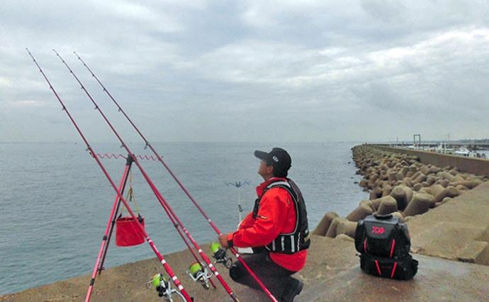 浅場に接近開始!陸っぱり冬カレイの投げ釣りで必要な道具と釣り方