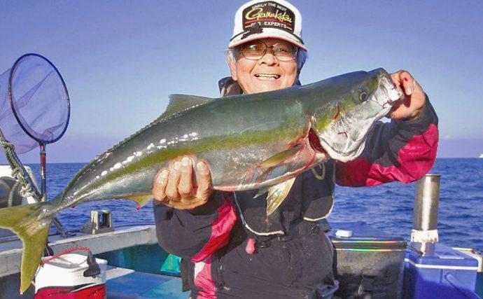 和歌山イサギ青物釣りで即席落とし込みブリゲット【和歌山県湯浅港なぎ丸】