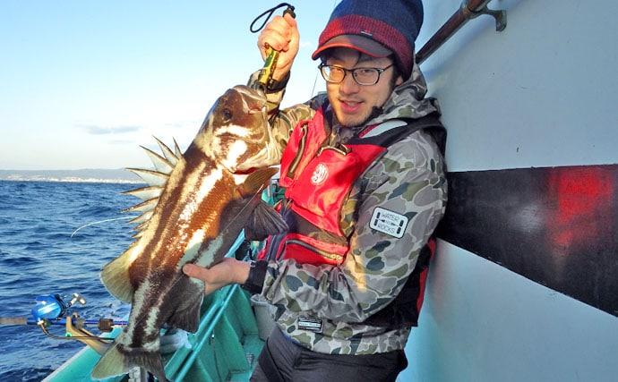 その引き化物級!イシナギの仕掛けと釣り方紹介【茨城県モンロー号】