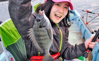 クロダイカカリ釣り初挑戦は、クロ星★【フィッシングセンターマンボウ】