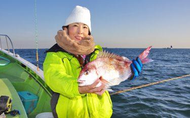 年末年始に赤い魚で彩りを!初心者女性もコマセマダイ【金沢八景太田屋】
