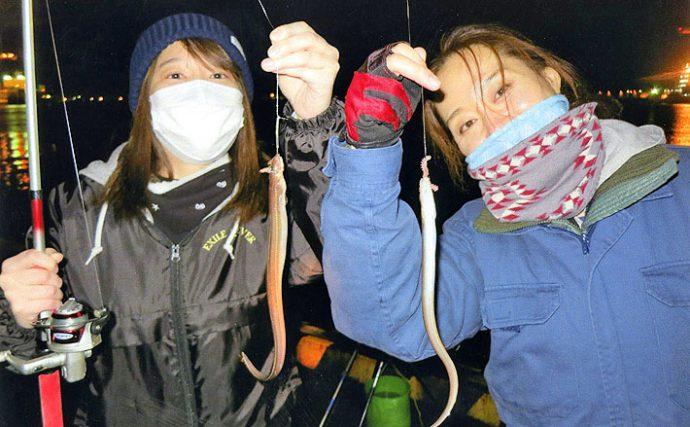 夜釣り挑戦!チョイ投げで35cm級アナゴをWでGET!【三重県霞埠頭】