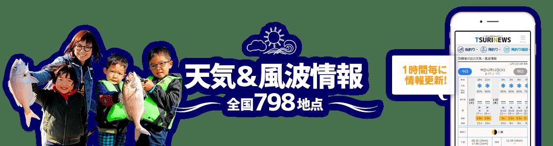釣りに役立つ全国のリアルタイム気象&潮汐情報が早わかり! | 熊本県の釣り場 天気&風波情報