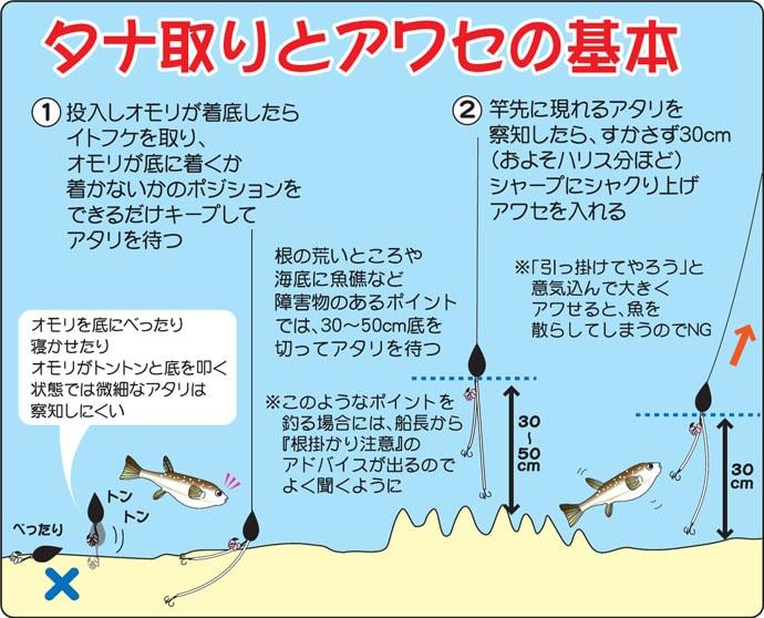 茨城~外房のショウサイフグ!釣り方を確認してみよう!図を添えて……