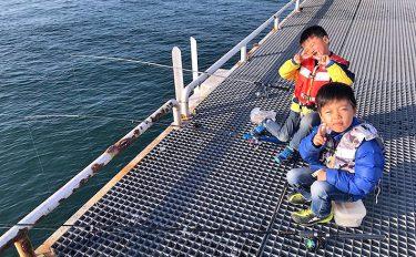 子どもたちと堤防へ!父と息子の男旅!【愛知県南知多町豊浜つり桟橋】