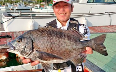 人気のカセでチヌカカリ釣り【和歌山県田辺湾・海上釣り堀まるちょう】