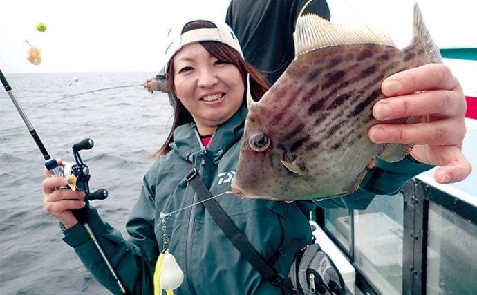 船釣りで狙う春カワハギ。28cmの良型も登場!【和歌山県由良・尾張屋】