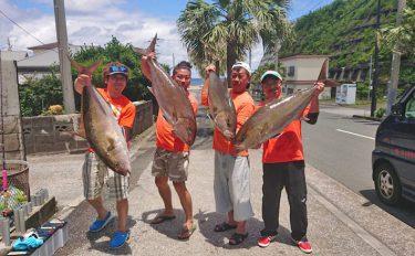 八丈島遠征釣行:15kg超のカンパチ複数尾登場【東京都・八丈島】