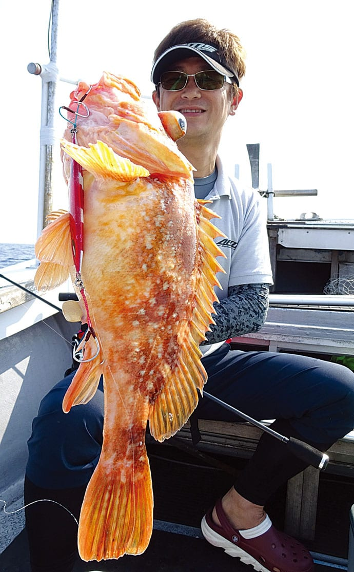 根魚ジギング釣行:マハタにアコウに連続ヒット【鳥取県・第二龍勢丸】