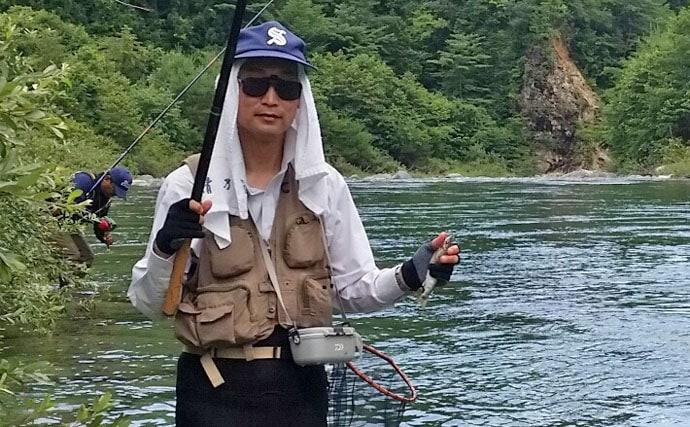 渓流アマゴ釣り:本流で仲間と過ごす素敵な時間【岐阜県・付知川】
