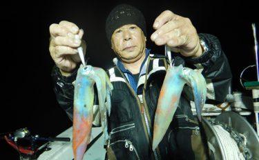 夜焚きイカ釣行:ベイトのタナ見極め数釣り満喫!【福岡県・門司港】