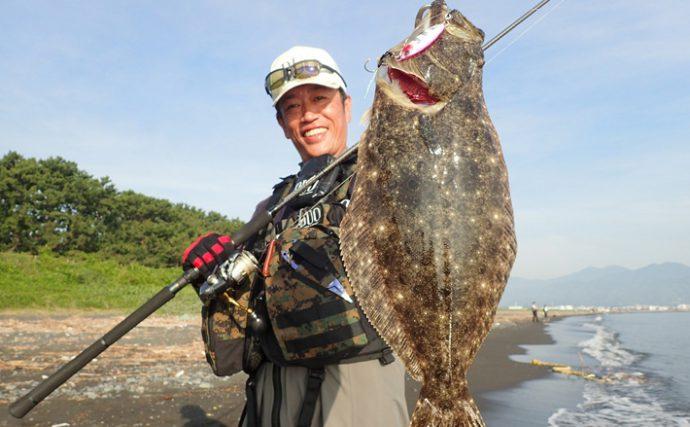 ショアジギング釣行:超有名サーフで狙うは青物!【静岡県・三保海岸】