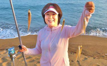 シロギス投げ釣り:有名サーフでアタリ連発73尾【福井県・波松海岸】