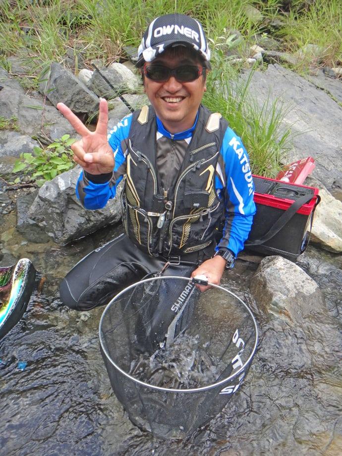 鮎トモ釣り:水位高めの好条件で数釣り日和!【奈良県・天の川】