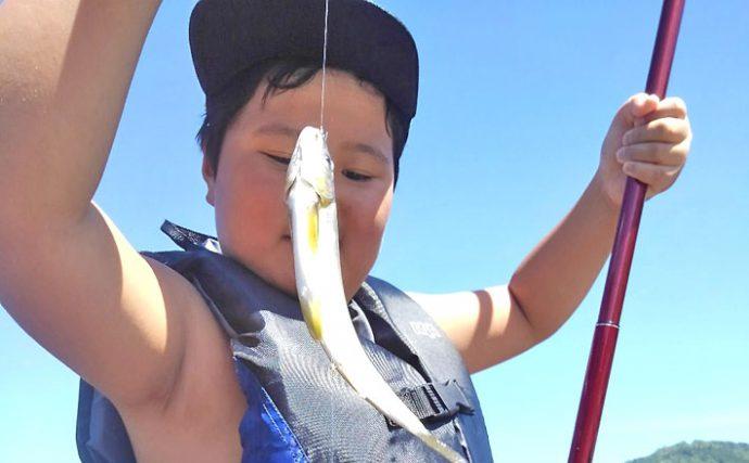 親子で鮎トモ釣り:初体験の息子も良型手中で大興奮【岐阜県・長良川】