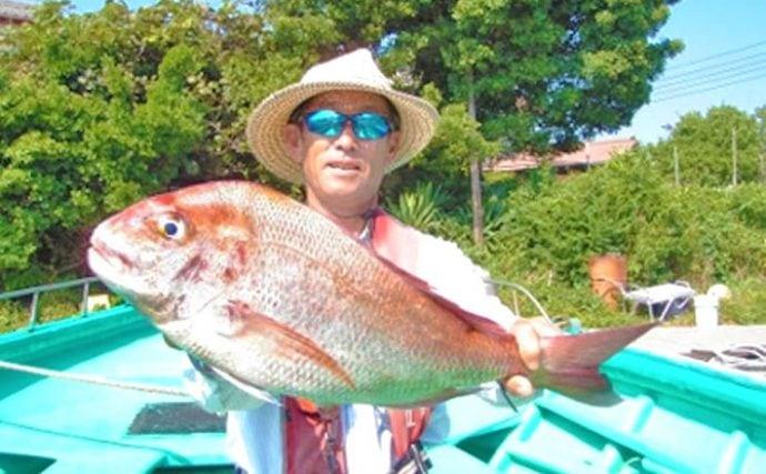 シャクリマダイ釣行:伝統的な手バネで大物と対峙【千葉県・とう市丸】