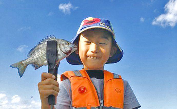イカダかかり釣り:本命チヌ27尾に大物ゲスト【福井県・はやし渡船】