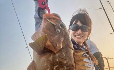 スーパーライトジギング釣行:50cm超キジハタも【三重県・三洋丸】
