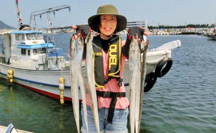 タチウオジギング&テンヤ釣行:リーダー変更で竿頭【福岡県・博多湾】