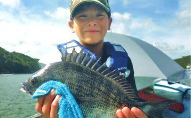 クロダイかかり釣り:子供が狙うは年無し!【三重県・的矢湾三ケ所】
