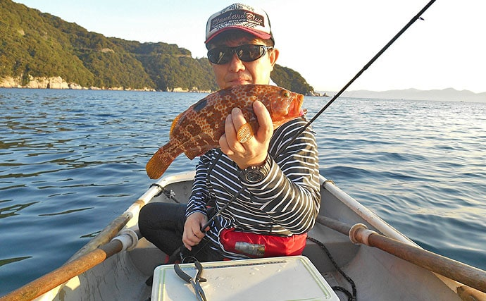 ライトロックフィッシュ釣行:手こぎボートでキジハタ【福井県・敦賀】
