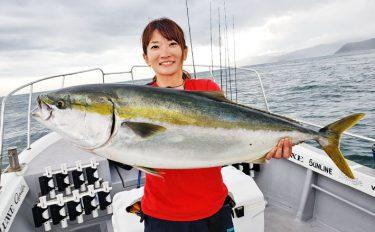 船ジギング釣行:女性だって96cmブリ!【大阪府・シーライド】