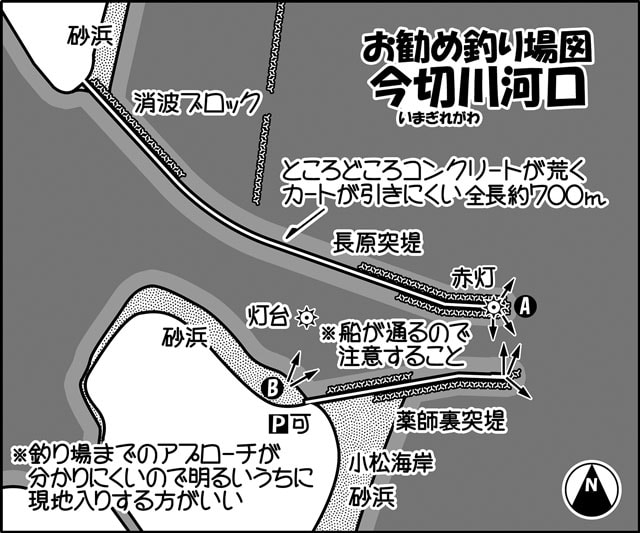 投げ釣りのススメ:込み潮が好機!チヌ・キビレ【徳島県・今切川河口】