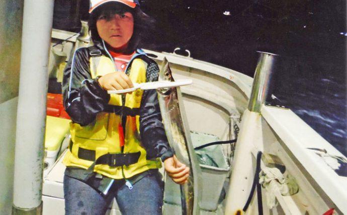船エサタチウオ釣行:子連れで楽しむ夜間釣行【静岡県・用宗港】