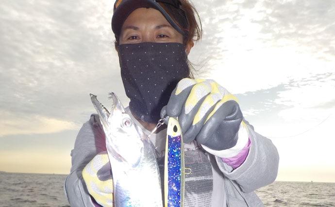 スーパーライトジギング釣行:怒涛の12目釣り!【愛知県・隆盛丸】