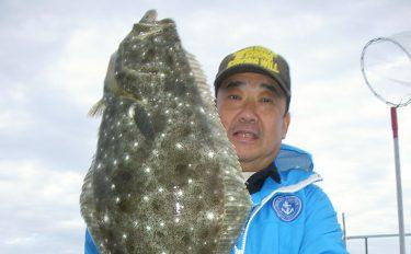 茨城沖ヒラメ絶好調!2.8kg頭にトップ11尾【千葉県・直栄丸】