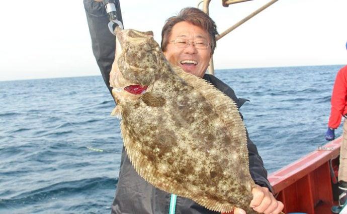 ヒラメ&ヒラマサ乱舞!泳がせ釣り&落とし込み釣り【山口県・大和丸】