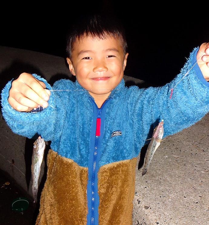 子供と一緒に釣り行こう!夜の堤防でアタリ連発【愛知県・大井漁港】