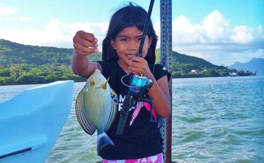 ハワイで巨大テナガエビ釣り!釣果でガーリックシュリンプ【オアフ島】