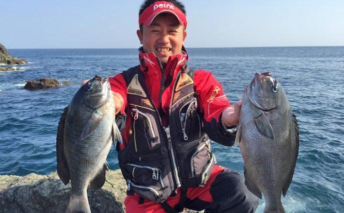 寒グロの機嫌はいかが?沖磯フカセ釣りで入れ食い!【大分県・米水津】
