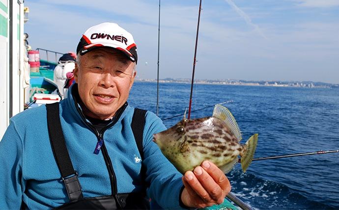 拾い釣りでも面白い!冬の肝パンカワハギ釣り【神奈川県・ちがさき丸】