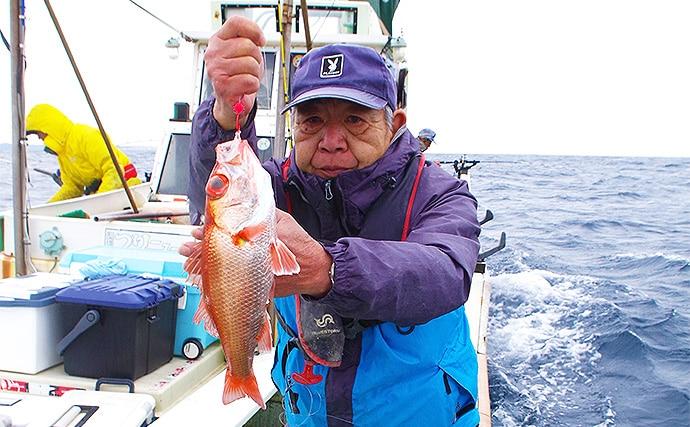 アカムツ(ノドグロ)釣り!ボウズ覚悟で挑戦!【静岡県・福徳丸】