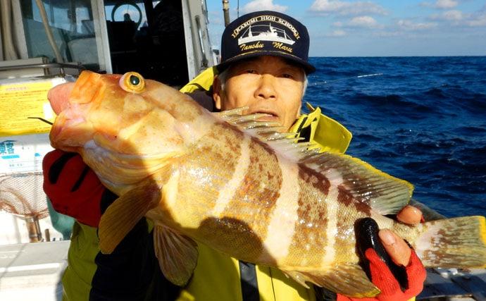 高級魚オンパレード!小アジがベイトの落とし込み【山口県・久津漁港】