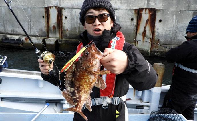 東京湾シーバスジギング絶好調!62cm頭に船中トップ27尾!