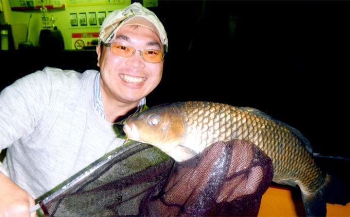 室内釣り堀でコイ釣り 60cm級も【愛知県・フィッシュオン】
