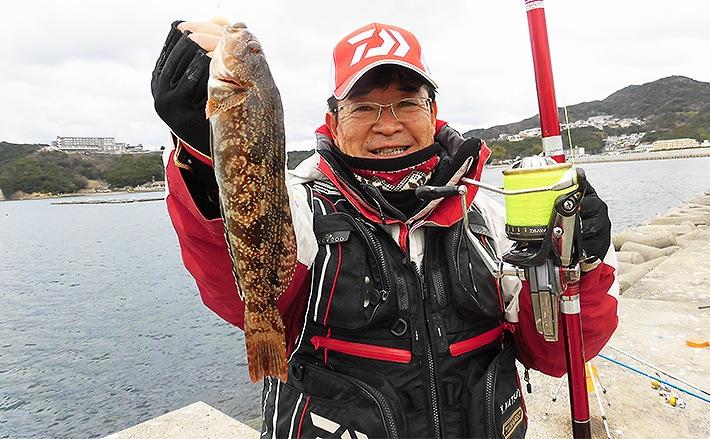 投げ釣りで冬の好ターゲットアブラメ狙い 嬉しい?ゲストも【淡路島】